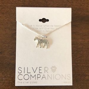 Beautiful Horse Necklace silver Plated